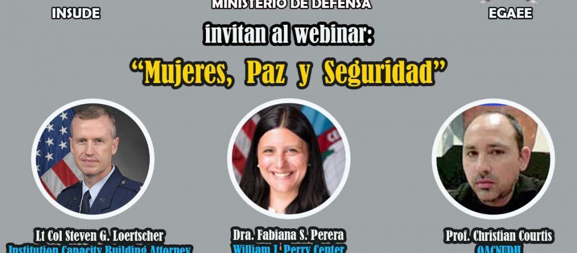 Ministerio de Defensa invita al Webinar